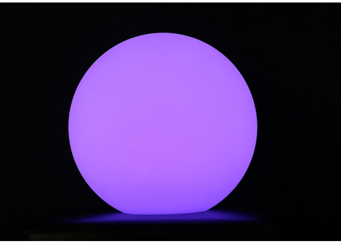 Floating Waterproof Led Light Furniture Glow Swimming Pool Ball 20cm Eco Friendly