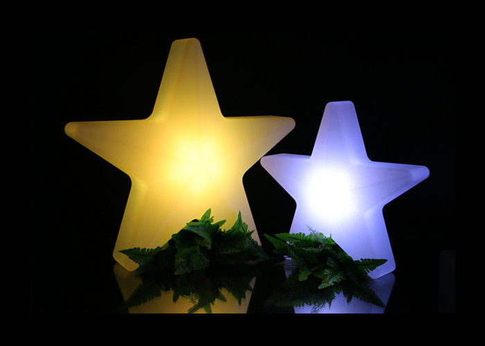 Bar LED Illuminated Furniture Star Shaped PE Material RGB Color Changing