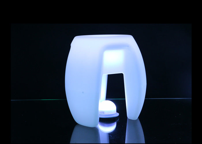 Outdoor Colorful LED Illuminated Furniture Led Triangular Stool 80000h Life Time